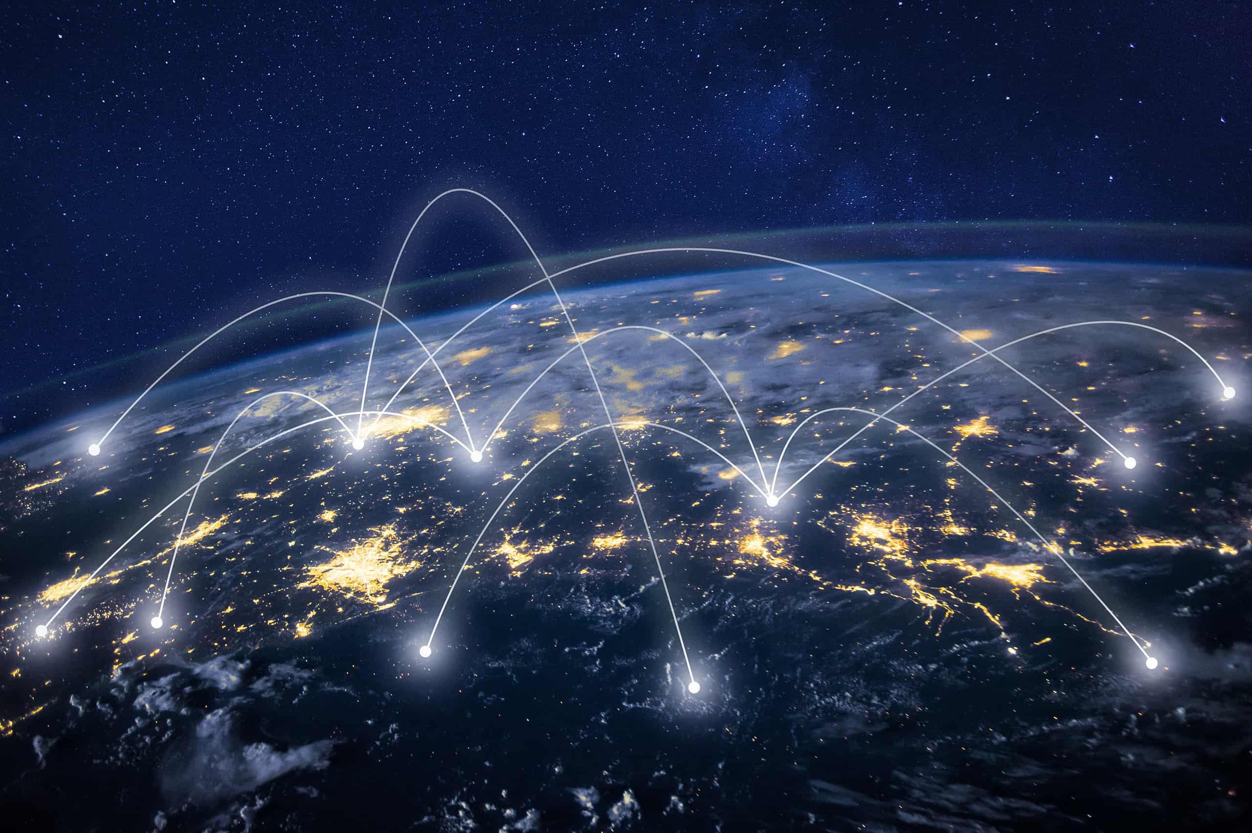 Global network concept artwork
